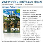 2009 World's Best Diving and Resorts