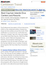 Best Cayman Islands Dive Centers and Dive Resorts