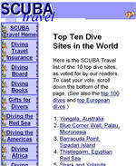 Top Ten Dive Sites