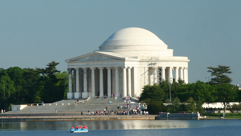 But you can still see Washington and its street layout. Jefferson Memorial