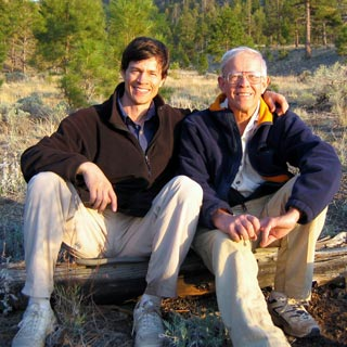 Jim with Dad near Flagstaff Arizona