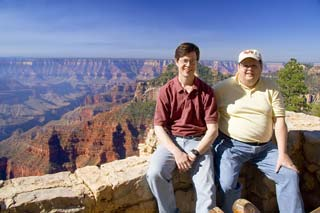 Jim with brother at North Rim of Grand Canyon