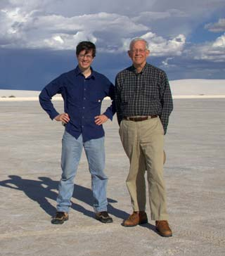 Jim with Dad at White Sands National Monument