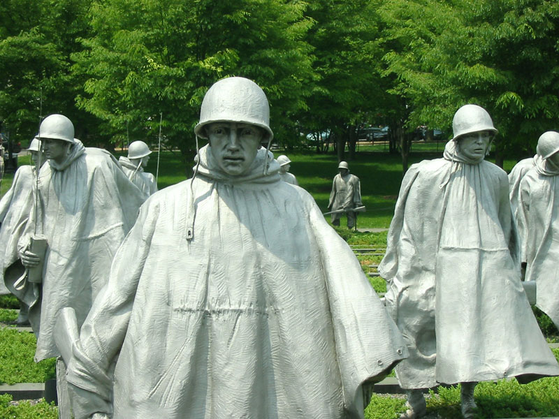 Korean War Memorial Statues Korean War Veterans Memorial