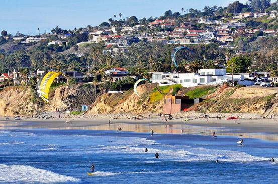 Pacific Beach Kite Surfing