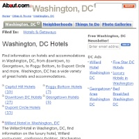 About.com's Washington DC Hotels Reviews